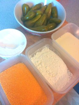 Production line for Jalapeno Poppers