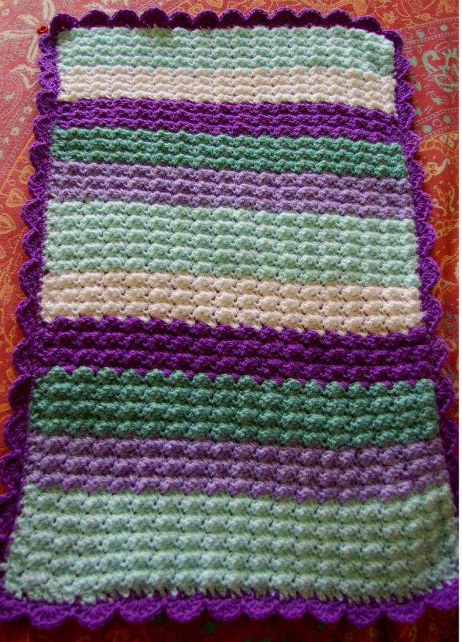 Quick and easy crochet baby blanket lots of nice things