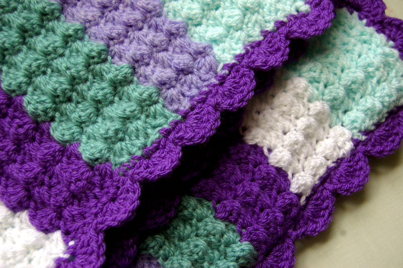 Free Baby Crochet Patterns Candy Afghan Blanket : Quick and easy crochet baby blanket lots of nice things