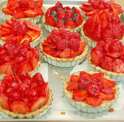 Cashew Custard filled Fruit Tartlets