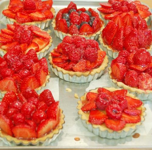 Cashew Custard filled Fruit Tartlets