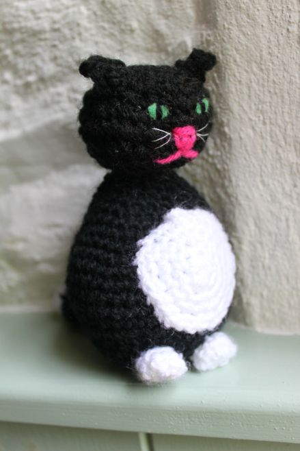 Crocheted cat