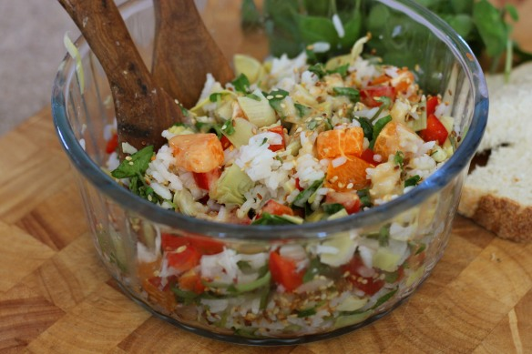 Glamourous Rice Salad with Orange and Sesame