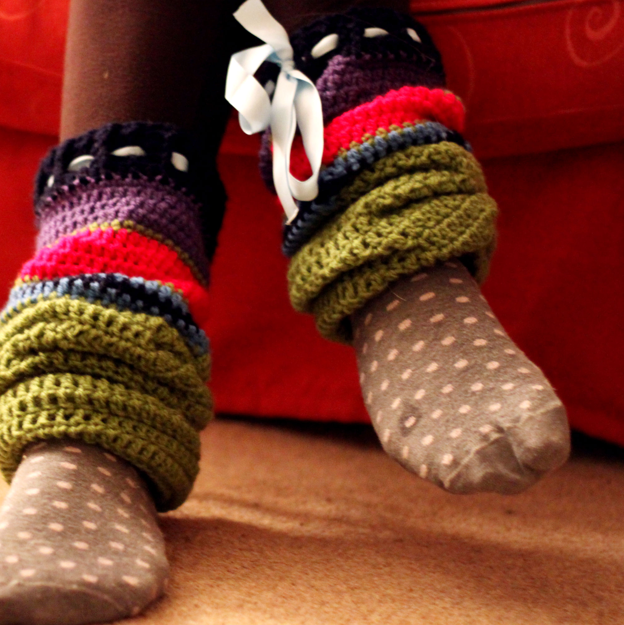 Crochet Leg Warmers : Big Crochet Leg Warmers lots of nice things
