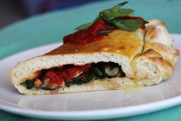 Spinach and Mushroom Calzone