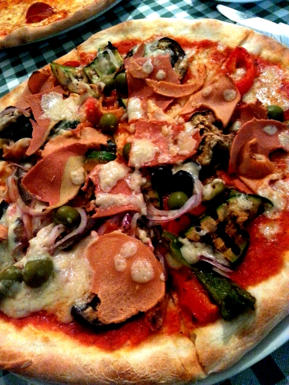 Amazing vegan pizza