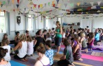 How many people can you fit in a yoga class?