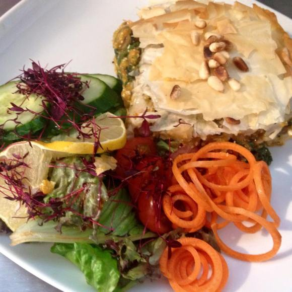 Organic Squash Filo Pie with Toasted Pinenuts